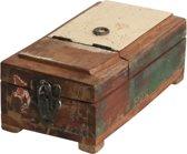 Raw Materials Scrapwood Kistje met spiegel – Scheerbox – 26x14x10cm – Gerecycled hout