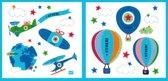 Lief! Stoer! Blauwe Muurstickers voor in de Kinderslaapkamer – 31x30x1cm | Decoratie voor aan de Muur | Verwijderbaar en Herplaatsbare Wandplaatjes