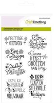CraftEmotions Clearstamp - Kerst Handlettering Christmas Star