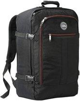 CabinMax Metz – Handbagage - Rugzak 44l– Schooltas - 55x40x20cm – Lichtgewicht - Zwart (MZ BK/RD)