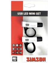 Simson Mini - Verlichttingsset - USB - incl. Batterijen - Led - Wit