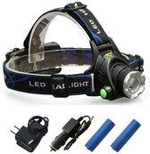 Oplaadbare LED Hoofd Zaklamp 3800 Lumen - Herlaadbare Koplamp Zaklantaarn