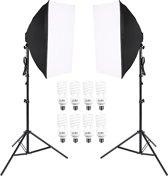 IMPAQT Studiolampen set 8 x 45W - 2x fotolamp fotografie softbox