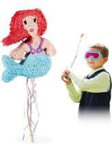 relaxdays Pinata zeemeermin - trek pinata - pinata verjaardag - zelf vullen - piñata