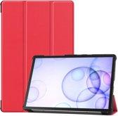 Samsung Galaxy Tab S6 Hoesje - Smart Book Case - Rood