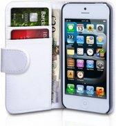 Luxe Flip Wallet hoesje voor iPhone 5 5s SE - Wit