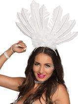 Witte Braziliaanse haarband voor vrouwen - Verkleedattribuut