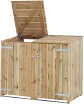 Woodvision - Dubbele containerkast - Vuren - 150x127/115x91 cm