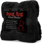 Gift House International Snug-Rug Sherpa - Deken - Zwart
