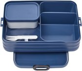 Mepal Bento Take a Break Lunchbox - 1.5 L - Nordic Denim