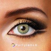 Kleurlenzen 'Green Passion' jaarlenzen inclusief lenzendoosje - groene contactlenzen Partylens®