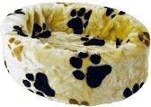 Petcomfort Hondenmand/Kattenmand - Pootprint - Beige - 56 x 40 x 13 cm