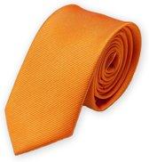 Stropdas oranje effen 8 cm