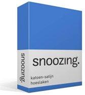 Snoozing - Katoen-satijn - Hoeslaken - Lits-jumeaux - 180x220 cm - Meermin
