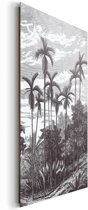 Palmbomen - Schilderij 60 x 90 cm