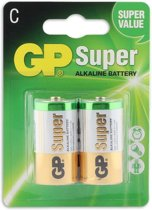 GP C Super Alkaline C Batterijen - 2 stuks