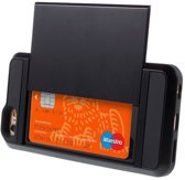 Gadgetbay Secret Pasjeshouder Hoesje - iPhone 6/6s Hardcase - Portemonnee - Zwart
