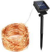 Zonne-Energie Outdoor LED verlichting - 10 meter - Warm Wit - 12V - ultra dun
