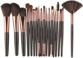 Professionele 18-delige Make-up borstel set | Rose goud | Exclusief voor Cosmetica & Make up | Kwastenset |