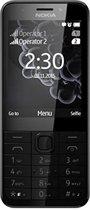 Nokia 230 Dual Sim 2.8'' 91.8g Zwart, Zilver Basistelefoon