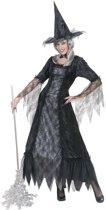"""""""Verkleedkostuum heks met spinnenweb dames Halloween outfit - Verkleedkleding - XL"""""""