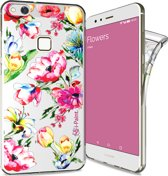 i-Paint glamour cover flowers - transparant - voor Huawei P10 Lite