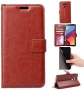Sony Xperia XZs Book PU lederen Portemonnee hoesje Book case bruin
