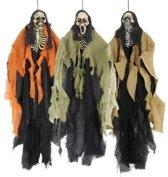 Halloween - Skelet hang decoratie halloween 1 stuks van 60 cm