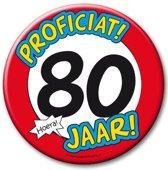 XL Button - 80 jaar (Doorsnee 10 cm)