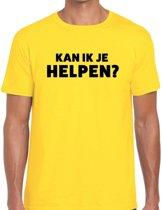 Kan ik je helpen beurs/evenementen t-shirt geel heren - verkoop/horeca shirt L