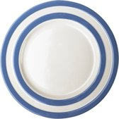 Cornishware Blue Lunch Plates platte lunchborden 26 cm (set van 4)