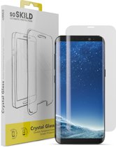SoSkild Edge to Edge Tempered Glass Screen Protector voor  Samsung Galaxy S8