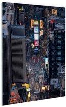 Times Square  Glas 40x60 cm - Foto print op Glas (Plexiglas wanddecoratie)