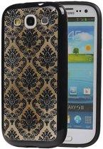 Samsung Galaxy S3 Hoesje TPU Paleis 3D Backcover Zwart