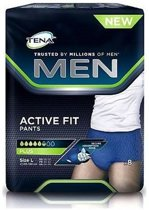 Tena Men Active Fit Plus L Incontinentie - 8 stuks - Incontinentiebroekjes