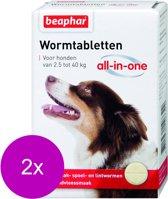 Beaphar Wormtablet All In One Hond - Anti wormenmiddel - 2 x 4 tab 2.5 Tot 40 Kg