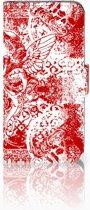 Samsung Galaxy S10e Boekhoesje Design Angel Skull Red