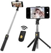 3 in 1 Draadloos Selfie Stick Tripod met 360° rotation Phone Clip Mount en Bluetooth Remote shutter voor iPhone X / iPhone 8 / 8 Plus / 7 / 7 Plus / 6 / 6 Plus / Samsung Note 8 / S8 / S8 Plus / OnePlus (Black)
