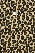 India: Personalized Notebook - Leopard Print (Animal Pattern). Blank College Ruled (Lined) Journal for Notes, Journaling, Dia