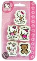 Hello Kitty 5 gummen op kaart