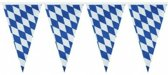 Oktoberfest 3x Beieren vlaggenlijn / slinger blauw/wit 4 m