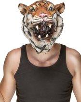 Integraal tijger masker voor volwassenen  - Verkleedmasker - One size