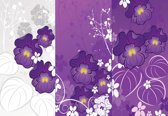 Fotobehang Flowers Purple Nature   XXL - 312cm x 219cm   130g/m2 Vlies