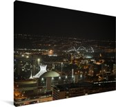 Skyline van het Zuid-Amerikaanse Brasília in de nacht Canvas 90x60 cm - Foto print op Canvas schilderij (Wanddecoratie woonkamer / slaapkamer)
