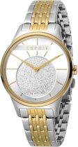 Esprit ES1L026M0065 horloge dames - zilver en goud - edelstaal