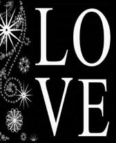 Christmas Love Snowflakes Black White School Comp Book 130 Pages