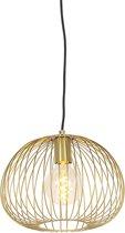 QAZQA wire - Hanglamp - 1 lichts - Ø 300 mm - Goud/messing