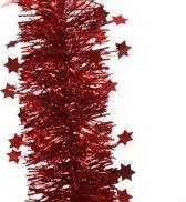 Guirlande ster lametta 270cm kerst rood