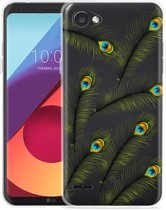 LG Q6 Hoesje Peacock Feathers