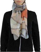 Sjaal 100% Viscose Beige Multi Color
